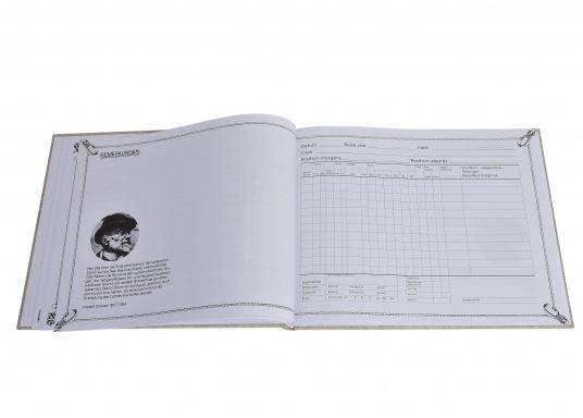 Eine ideale Geschenkidee!Dieses schöne Logbuch, in Segeltuch gebunden, macht die Pflicht zum Vergnügen und bietet Raum für die nautischen Einträge und persönlichen Notizen.Mit Tipps und Bonmots berühmter Segler. (Bild 9 von 9)