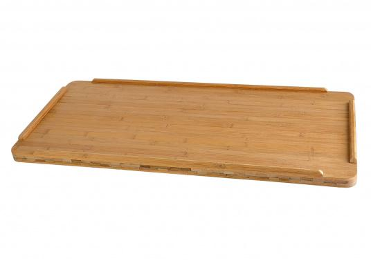... Solid Bamboo Table Top Featuring Open Corners. The Bamboo Material  Gives A Smooth Surface To ...
