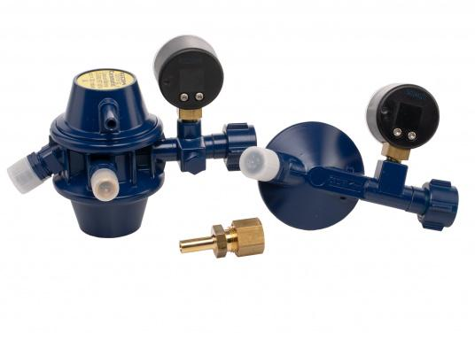 Regler-Umschaltautomatik für Flüssiggasflaschen, geeignet zum Einbau in Boot und Caravan. Die Zweiflaschenanlage schaltet automatisch von der leeren Betriebsflasche zur Reserveflasche. (Bild 2 von 6)