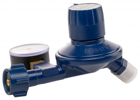 Regler-Umschaltautomatik für Flüssiggasflaschen, geeignet zum Einbau in Boot und Caravan. Die Zweiflaschenanlage schaltet automatisch von der leeren Betriebsflasche zur Reserveflasche. (Bild 3 von 6)