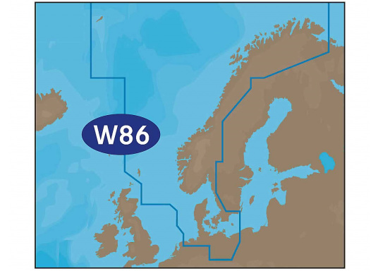 New filed trips WIDE! Even bigger! Yet practical! With weather-preview map overlay, satellite map overlay, and the best sea chart modules. C-MAP MAX: W86 – North Sea and Denmark.