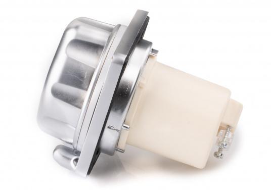 3-poliger Landanschluss im hochwertigen Design mit verchromter Oberfläche. IP56 wassergeschützt, 16 A, 230 V.  (Bild 3 von 5)