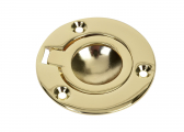 Flush Ring Pull, polished Brass