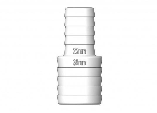 Reduzier-Schlauchverbinder aus Nylon-Verbundstoff. Lieferbar in verschiedenen Größen  (Bild 2 von 3)