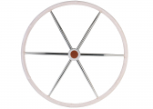 Leather Covered Stainless Steel Steering Wheel