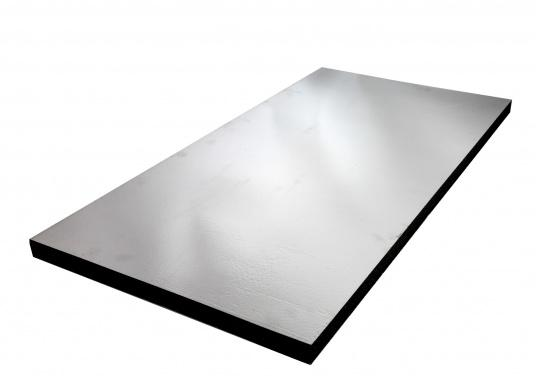 Optimum soundproof solution for engine rooms. These insulation panels are made of a soft foam based on polyether covered with aluminum-metallized PES film. Two versions are available.  (Image 5 of 7)