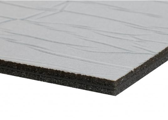 Optimum soundproof solution for engine rooms. These insulation panels are made of a soft foam based on polyether covered with aluminum-metallized PES film. Two versions are available.  (Image 7 of 7)
