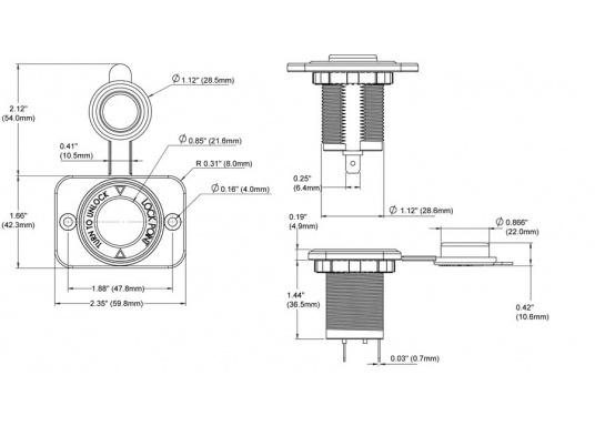 Die BLUESEA SYSTEMS Zigarettenanzünder-Steckdosen sind besonders empfehlenswert für den Einsatz unternässe- sowie konstant vibrationsbelasteten Bedingungen. Ideal geeignet für kleine Ladegeräte oder Inverter. Das Twist-Lock-System und Dichtungen sorgenfür einen soliden Sitz des Steckers in der Steckdose und schützen die Steckverbindung vor Spritzwasser.  (Bild 6 von 6)