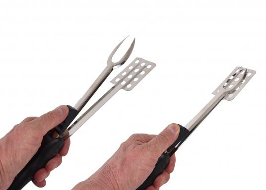 All barbecue tools in one – the Flameboy is especially handy for travelling. It provides pliers function, fork, knife edge, spatula, corkscrew, bottle opener and lighter holder. (Image 2 of 3)