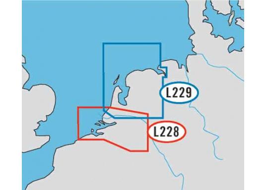 L228: M-EN-M061.02 NETHERLANDS SOUTH: Katwijk bis Oostende  L229 M-EN-M062.02 NETHERLANDS NORTH: Emden, Scheveningen