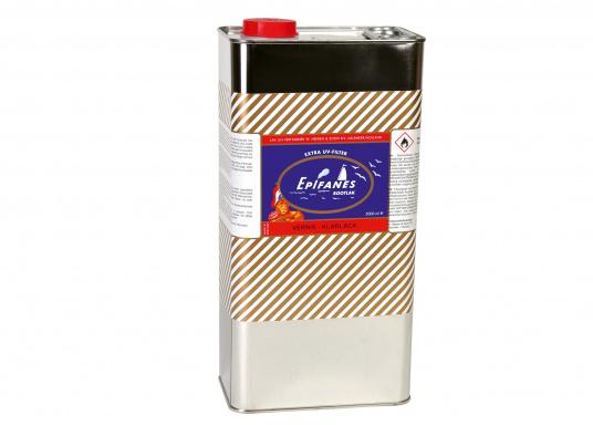 Weltbekannter, hochglänzender 1-Komponenten-Klarlack mit sehr großer Wetterfestigkeit und schönem Verlauf. Er enthält einen UV-Filter, der das Holz gegen Verfärbung schützt. Geeignet für Anstriche über der Wasserlinie für Innen und Außen, für Süß- und Salzwasserreviere.  (Bild 2 von 2)