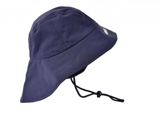 Südwester in hervorragender, atmungsaktiver Qualität. In der Farbe Blau. Material: 100% Nylon. Größen: S-L. (Bild 2 von 3)