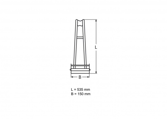 Edelstahl-Ankerbeschlag für Anker bis 15 kg  justierbar  um 180° schwenkbar  zur Heckbefestigung oderfür Badeplattformen  (Bild 6 von 6)