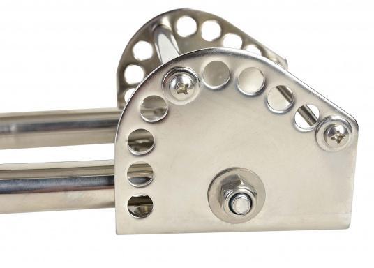 Edelstahl-Ankerbeschlag für Anker bis 15 kg  justierbar  um 180° schwenkbar  zur Heckbefestigung oderfür Badeplattformen  (Bild 4 von 6)