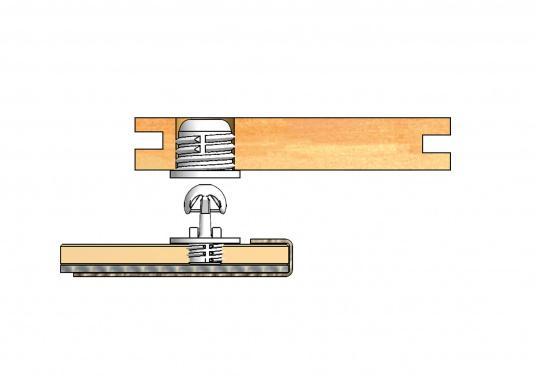 Vielfach prämiertes System für die Montage von Paneelen für Yacht und Caravan! Die Clips sind in verschiedenen Ausführungen erhältlich und können bei bezogenen, sowie lackierten Panelen eingesetzt werden.  (Bild 13 von 13)