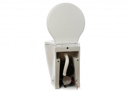 Luxus-Design einer Haustoilette  Kompaktes Maß wie ein Bord-WC  Leiser Betrieb und wassersparsam  Kombipumpe (Spülung / Zerhacker)    (Bild 2 von 8)