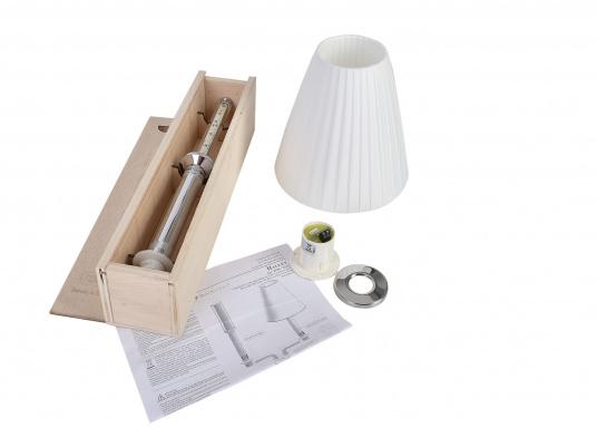 Robust und wasserdicht! Die Tischlampe HALLEY kann sowohl im Innen- als auch im Außenbereich verwendet werden. Sie lässt sich durch einfaches 90°-Drehen an- und ausschalten.  (Bild 4 von 4)