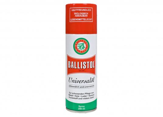 Der Geheimtipp für Heimwerker! BALLISTOL Universalöl ist ideal zur schonenden Pflege von Metall, Holz, Leder, Gummi, Kunststoff und mehr geeignet. (Bild 3 von 3)