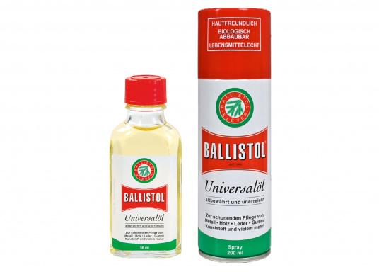 Der Geheimtipp für Heimwerker! BALLISTOL Universalöl ist ideal zur schonenden Pflege von Metall, Holz, Leder, Gummi, Kunststoff und mehr geeignet.