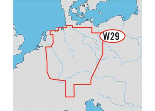 C-MAP FULL 4D Format Fahrtgebiet WIDE: WD29 - Deutschland (Inland). Mit automatischer Routenberechnung, 3D- Ansicht und 3D- Überlagerung der nautischen Papierkarten für einen besseren Blick mit mehr Informationen.
