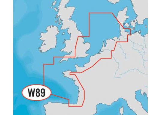 Fahrtgebiet WIDE: WD89, North-West European Coasts.Mit automatischer Routenberechnung, 3D- Ansicht und 3D- Überlagerung der nautischen Papierkarten für einen besseren Blick mit mehr Informationen.