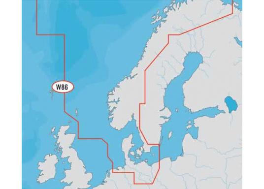 Fahrtgebiet WIDE: WD86, North Sea and Denmark.Jetzt neu mit automatischer Routenberechnung, neuer 3D- Ansicht und einer 3D- Überlagerung der nautischen Papierkarten für einen besseren Blick mit mehr Informationen.