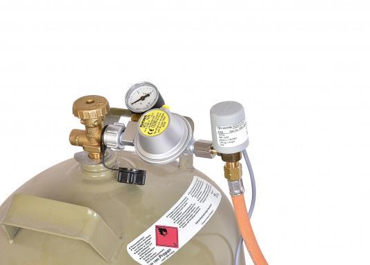 Gasdruckregler speziell für Caravans, zum Anschluss an Flüssiggasflaschen mit bis zu 14 kg Füllgewicht geeignet. Erhältlich mit Manometer.  (Bild 5 von 6)