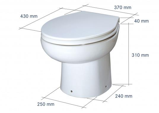 Einfachheit und Zuverlässigkeit, das bietet diese Bord Toilette. Lieferbar in zwei Versionen, jeweils mit 12 V und 24 V. Maximale Förderhöhe: 3m, maximale Förderdistanz: 30 m.  (Bild 2 von 4)
