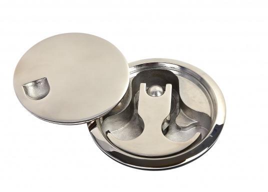 Anneau à rotation avec couvercle. Inox. Diamètre : 7,5 mm (Image 2 de 5)