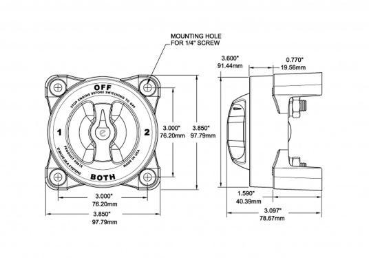 Besonders geeignet für große Dieselmotoren!Dieser Batterie-Trennschalter erfüllt die amerikanischen Boot und Yacht Council Anforderungen(ABYC). Er bietet eine Dauerleistung von 600 A und eine Spitzenleistung von 2750 A. (Bild 4 von 4)