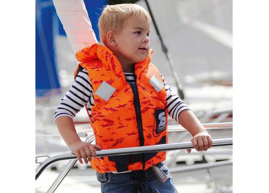 Diese hochwertige Baby- und Kinderfeststoffweste wird den speziellen Anforderungen von Kindern gerecht. Sie ist fürYacht- und Fahrtensegeln,Motorboot, Regatta (Jollensegeln) und Rudern geeignet. Lieferbar in verschiedenen Größen.  (Bild 3 von 6)