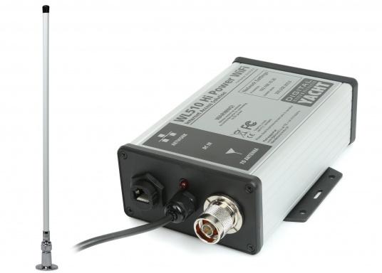 Aktuelle Wetterdaten, Kartenuptdates oder ein Büro an Bord– kein Problem mit dem HiPower WiFi-System WL510. Es ermöglicht über WiFi Hot Spots im Hafen eine Verbindung mit dem Internet.