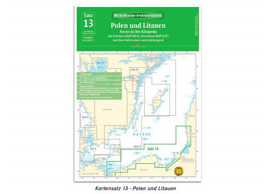 Papier-Kartensatz 13für das Gebiet Polen und Litauen.