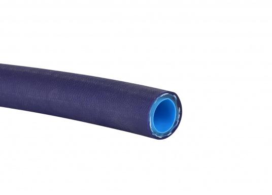 Für Trinkwasser zugelassen! Dieser Schlaucherfülltselbst die strengsten Anforderungen von DVGW und KTW. Er istAbrieb, UV-beständig und absolut licht-undurchlässig.