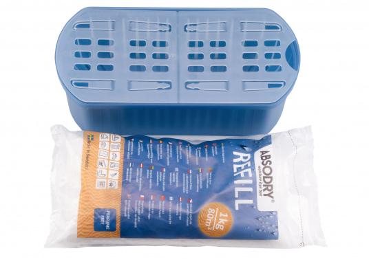 Zuverlässiger Luftentfeuchter! ABSODRY absorbiert bis zu einem Optimum von 50% die überschüssige Luftfeuchtigkeit und wird erst bei Erhöhung der Luftfeuchtigkeit wieder automatisch in Gang gesetzt.  (Bild 3 von 4)