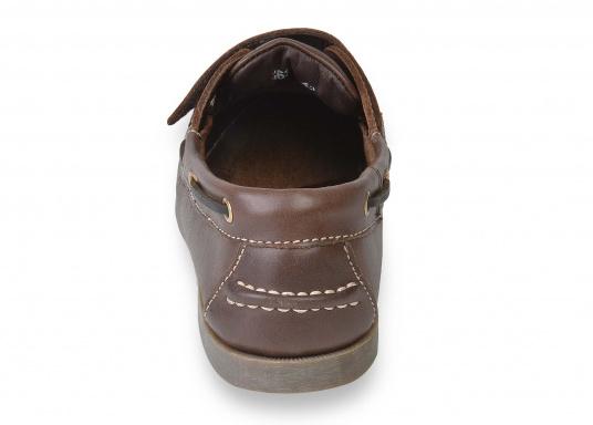 Schluss mit lästigem Schnüren – der Klettverschluss ermöglicht ein einfaches An- und Ausziehen. Der Schuh ist aus strapazierfähigem Glattleder gefertigt und bietet hohe Bequemlichkeit.  (Bild 4 von 8)