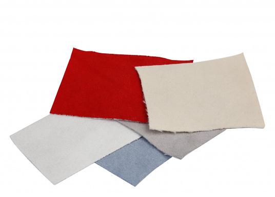 Samtig weicher Microfaserstoff in Velourslederoptik. Durch Filzrückseite, ideal als Bezugsstoff für Möbel geeignet.Rollenbreite: ca. 1,45 m. Lieferung im Anschnitt zu mind. 1 m. Preis pro Meter.Farbe: weiß.  (Bild 3 von 3)