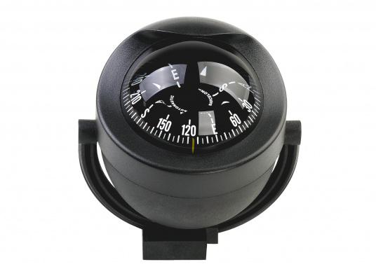 Dieser moderne Marine-Kompass imstylischen Design ist für Motor- und Segelboote geeignet. Er weist eine konische Rose auf. Der Kompass ist beleuchtet (12/24 V). Lieferung komplett mit Haltebügel.