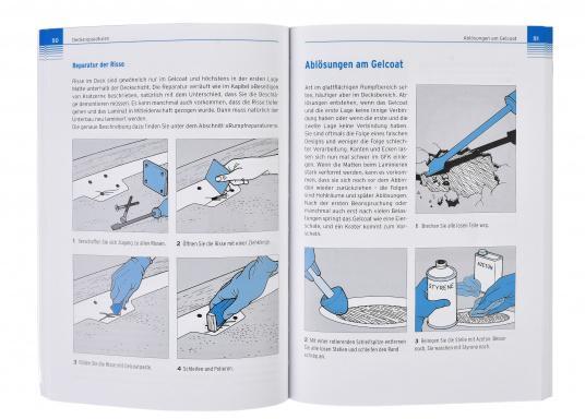 """In diesem Buch """"Rumpf- und Decksreparaturen"""" gibt Don Casey praxisgerechte Schritt-für-Schritt-Anleitungen mit anschaulichen Bildfolgen. (Bild 2 von 2)"""