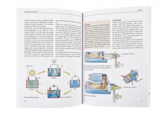 Das Buch erklärt anhand zahlreicher, instruktiver farbiger Fotos und Zeichnungen verständlich, wie ein Dieselmotor arbeitet und wie die Nebenaggregate für Kraftstoff, Öl, Kühlwasser, Strom sowie Getriebe, Welle und Schraube funktionieren. (Bild 2 von 2)