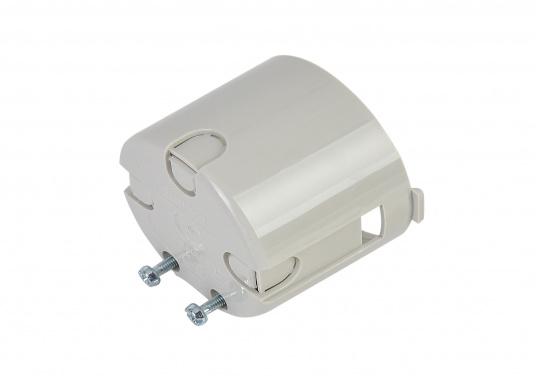 Berührungsschutzdose mit Zugentlastung. Farbe: Grau. Für Schalter und Steckdosen geeignet. (Bild 3 von 3)