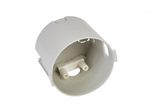 Berührungsschutzdose mit Zugentlastung. Farbe: Grau. Für Schalter und Steckdosen geeignet. (Bild 2 von 3)