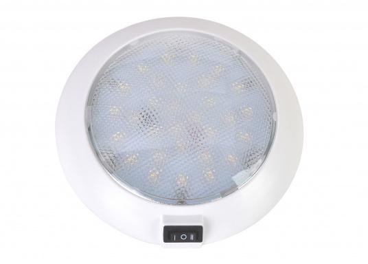 LED Aufbauleuchte mit weißen und roten LEDs. Die LEDs können separat geschaltet werden. Gehäuse: Kunststoff weiß.  (Bild 3 von 6)