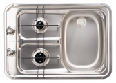 Gas Burner / Sink Combination / Sink right