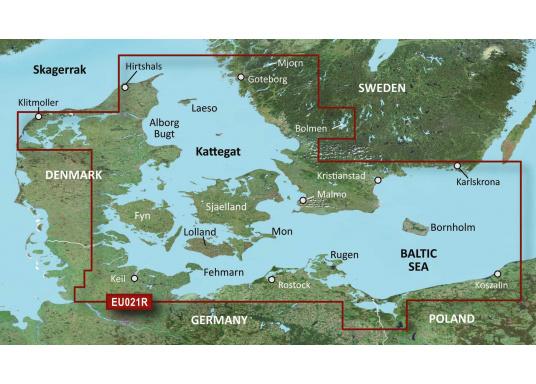 Fahrtgebiet BlueChart g3EU021R: Dänemark Ost - Schweden Südost