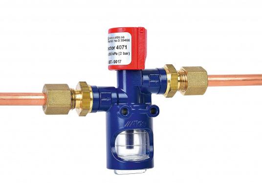 Testeur de fuite de gaz type 4071 marine facile et pratique à utiliser, sur simple pression d'un bouton. Convient à tous les circuits de gaz basses et moyennes pressions à bord. Le test fonctionne aussi par très basses températures.