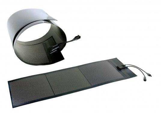Besonders flexible Dünnschicht-Solarmodule– extrem dünn und trotzdem kraftvoll und äußerst widerstandsfähig, see- und salzwasserfest.
