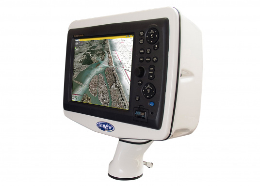 """For easy installation on deck! These practical deck pods in a handy """"uncut"""" version are ideally suited for chart plotters and radar displays on sailing and motor boats. Available in three sizes."""