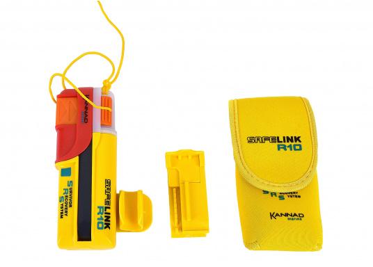 Ein Muss für jeden sicherheitsbewussten Wassersportler! Der SafeLink R10 ist ein kompakter Notfallsender, der am Mann getragen wird. Er ist sofort einsatzbereit, bietet einen integrierten GPS-Empfänger, ist wasserdicht und schwimmfähig. (Bild 3 von 8)