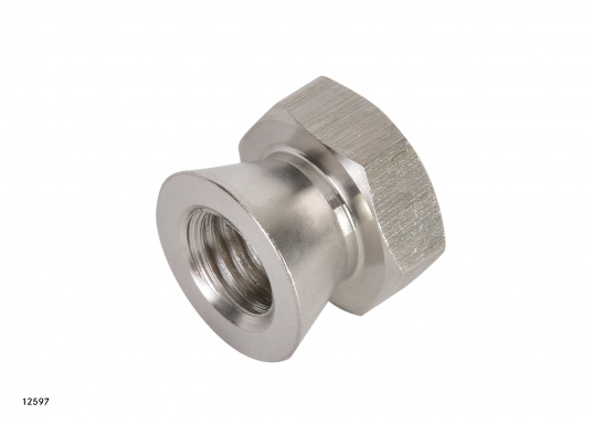 Security for your valuable equipment –with the high polishes stainless steel (AISI 316) safety nuts. Available in two sizes: M10 and M12